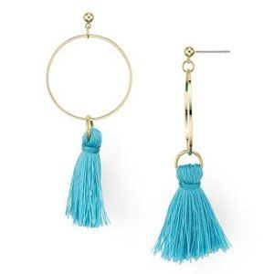 AQUA Larissa Tassel Hoop Earrings